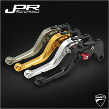 JPR RACING SHORT ADJUSTABLE CLUTCH+BRAKE LEVER SET DUCATI S4RS 06-08 - JPR-1111