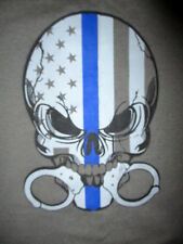 LAWFT T SHIRT Police Enforcement Public Safety Uniform Equipment Handcuff Skull