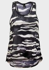 Ex H&M Sleeveless camouflauge swing Top Smart Vest Size 8 10 12 14 16 XS-XL BN
