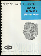 Rare Original Factory Marine Gear MG 512 Boat Transmission Service Manual SM 118