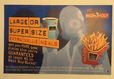 Mcdonald's 2003 Monopoly Translite Sign. 13x21. Mint