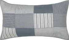 Denim Blue King Pillow Sham Hand Quilted Patchwork Sawyer Mill Farmhouse Bedding