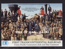 Isle of Man 1992. Construction of Union Pacific Railroad MS526 MNH