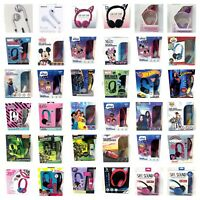 Kids Character Headphones Wired OR Wireless Bluetooth Kid Safe Volume Limiting