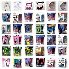 Kids Character Headphones Kid Safe Volume Limiting Wired Adjustable Band New
