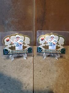1998 Pacific Crown Royale PEYTON MANNING Die-Cut #54 LOT (2) MINT RARE Colts
