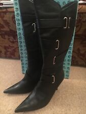 Bertie knee high leather boots, size 7 , brand new in box cost £145