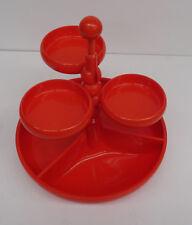 vintage pop art - Snackschale Utensilo orange Servierschälchen EMSA Etagere 70er