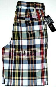 Boys Genuine Ralph Lauren Navy Check Cotton Shorts - 5yrs,6yrs CLEARANCE