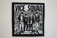 "Vice Squad Cloth Patch Sew On Badge Varukers Punk Rock Music Approx 4""X4"" (CP17)"