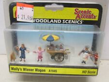Woodland Scenics~ Autoscenes # A1945 Walley'S Wiener Wagon ~ Lot C ~Ho Scale
