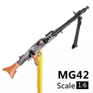 "1/6 Scale MG42 Machine Gun Weapon Military For 12"" Action Figure Soldier UK"