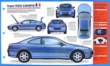 Peugeot 406 Coupe France 1997-1998 Spec Sheet Brochure Poster IMP Hot Cars 1 #7