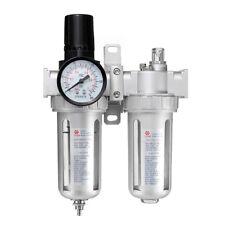 Air Compressor Oil Water Regulator SFC400 1/2'' Lubricator Moisture Trap Filter