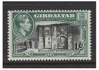 Gibraltar - 1938, 1s (KGVI) - Perf 13 1/2 stamp - M/M - SG 127a