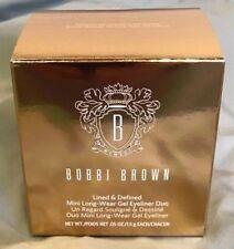 BOBBIE BROWN Lined & Defined Mini Gel Eyeliner Duo New In Box