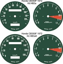 HONDA CB 350/4 400/4 500/4 FOUR SPEEDO TACH REV COUNTER GAUGE DIAL FACE OVERLAYS
