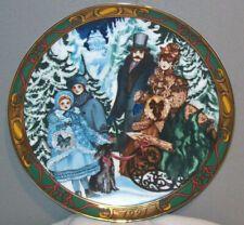 """Royal Copenhagen Bringing Home The Christmas Tree 1991 Collector's Plate 8-3/8"""""""
