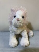 Ganz Pink White Cat Plush Stuffed Soft Huggable Long Hairs Webkinz Gift Toy 10""