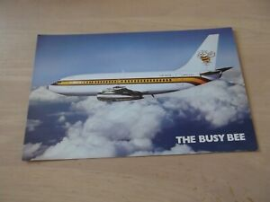 Airline Issue BUSY BEE Boeing 737-200 postcard - LN-NPB