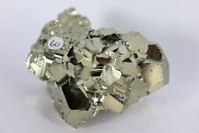 60) Pyrite Crystal Cube Formation Fools Gold Iron Great Gift - High Grade PERU