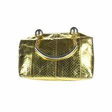 "GIANNI VERSACE Gold Handle Bag, 6.5"" X 3"" X 9"""