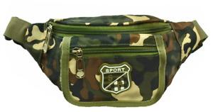 Mens Womens WATERPROOF Fanny Pack Travel Camo Pouch Waist Shoulder Hip Belt Bag