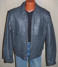 Vintage Berman's Gray Leather Jacket - Size 42L