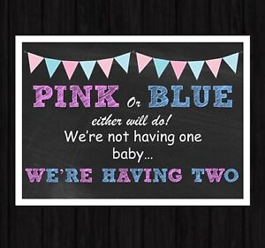 Pregnancy Announcement  TWINS REVEAL Announcement New Baby A4 Photo Prop
