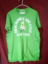 Abercrombie & fitch, Short Sleeve ,Green, T-shirt, Men's, Size Extra Large