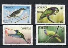 DOMINICA STAMPS 1984 WWF BIRDS SG  870/73 MINT NEVER HINGED