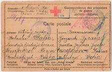 Russia 1917 Prisoner of War Incoming postcard to Zemstvo 2! Scarce and Rare!