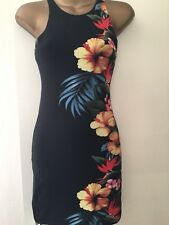 WOMENS FLORAL BODYCON DRESS SIZE SMALL