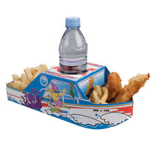 Sun and Fun Boat Meal Tray - food tray, kids party -pack of 8