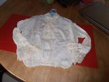 "Edwardian Boys Silk Scottish Shirt with Jabot S/L 11"""