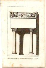 Stampa antica MILANO Arca di OTTONE VISCONTI in DUOMO 1854 Old antique print