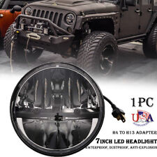 "7"" Inch Round LED Headlight Hi/Lo beam DRL For Jeep Wrangler JK TJ CJ 1997-2018"