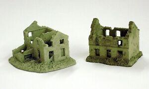 6mm Battle Damaged houses - set of 6 models