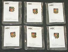 1988 Seoul Korea NBC Olympic  Pins  ( 6 ) Total  New