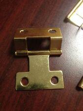 "Lot Of (30) 2"" Brass Finish Hinges Cabinet Door Chest Furniture Bi Fold"
