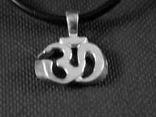Yoga Aum charm  in solid sterling Silver