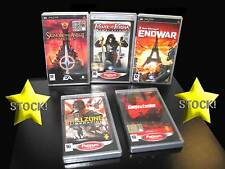 LOTTO STOCK 5 GIOCHI AZIONE KILLZONE ENDWAR LOTR TACTICS PSP USATI IT STOCK116