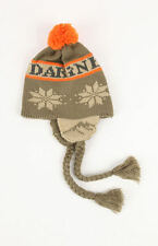 NEW Dakine Gustav Flap Beanie Hat Ski Snowboard Peruvian Pom Pon Orange Grey
