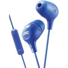 JVC Marshmallow Blue Stereo Memory Foam Earbuds with Remote and Microphone