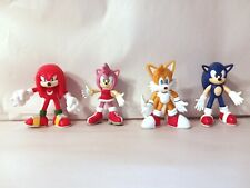 2000 Sega Bendable Rubber Figure Lot Sonic The Hedgehog, Knuckles, Tails, Amy