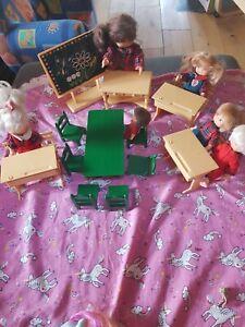 Lot famille Glady Delavennat 1987 6 poupées école vintage