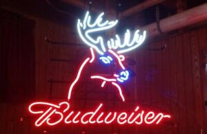 """New Deer 17""""x14"""" Light Lamp Neon Sign Real Glass Store Display Artwork Gift Wall"""