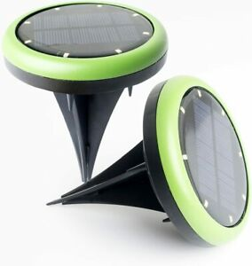 Solar Powered Ground Light,Outdoor Waterproof LED Landscape Path Light for Yard