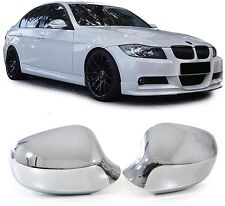 CHROME LOOK MIRROR COVERS FOR BMW E90 & E91 3 SERIES 09/2008 MODEL ON NICE GIFT