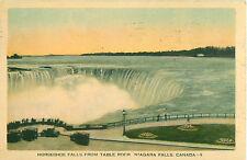 Horseshoe Falls Table Rock Niagara Falls Canada 1935 Postcard